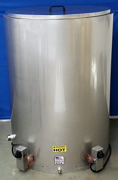 85 Gallon Oil/Wax Melting Tank – Stainless Steel - Sloped Bottom (Model WJT85G)
